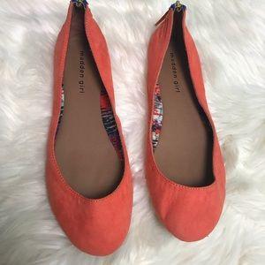 [Madden Girl] Orange Harmonee Zipper Flats